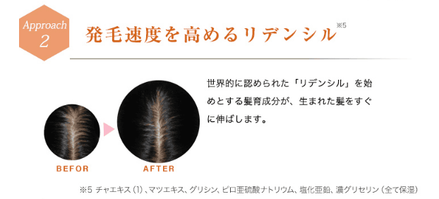 育毛成分リデンシル